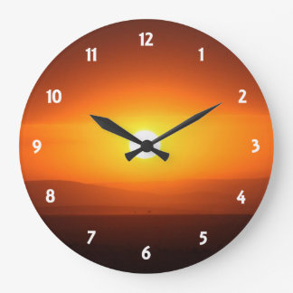 sunset colors clocks
