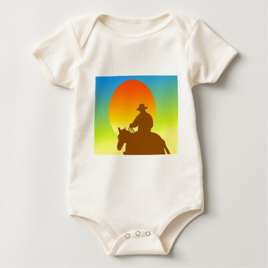 Sunset Cowboy Baby Bodysuit