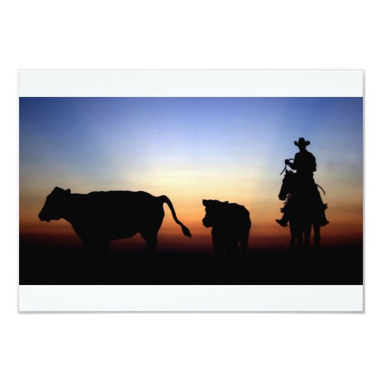 Sunset Cowboy Card