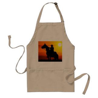 Sunset cowboy-Cowboy-sunshine-western-country Adult Apron