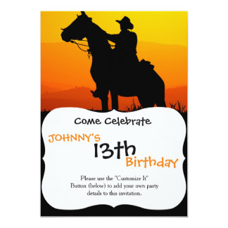 Sunset cowboy-Cowboy-sunshine-western-country Card