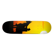 Sunset cowboy-Cowboy-sunshine-western-country Skateboard Deck