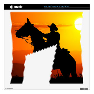Sunset cowboy-Cowboy-sunshine-western-country Skin For The Xbox 360 S
