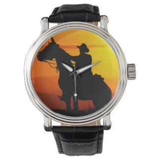 Sunset cowboy-Cowboy-sunshine-western-country Watch
