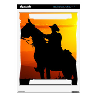 Sunset cowboy-Cowboy-sunshine-western-country Xbox 360 Console Decal