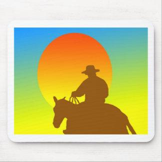 Sunset Cowboy Mouse Pad