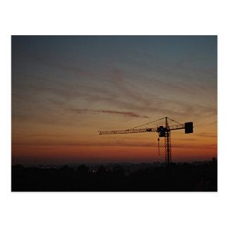 Sunset Crane Postcard