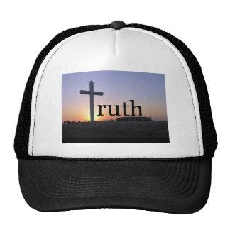 Sunset cross trucker hat