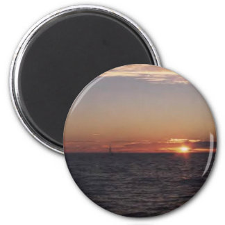 sunset.cruise 2 inch round magnet