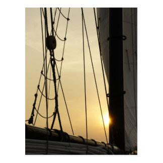 Sunset Cruise Postcard
