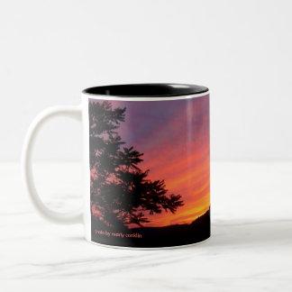 Sunset Curtains Two-Tone Coffee Mug