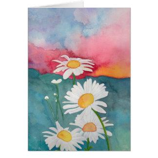 Sunset Daisies Card