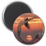 sunset dance 2 inch round magnet