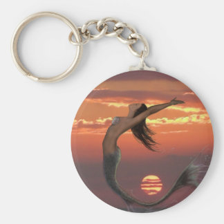 sunset dance basic round button keychain