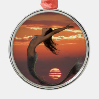 sunset dance metal ornament