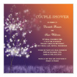 "Sunset Dandelion Modern Wedding Couples Shower 5.25"" Square Invitation Card"