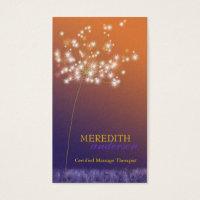 Unique business cards templates zazzle sunset dandelion unique professional business card reheart Images