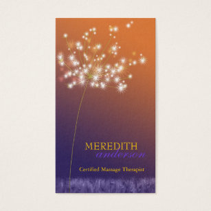 Unique business cards templates zazzle sunset dandelion unique professional business card colourmoves Image collections