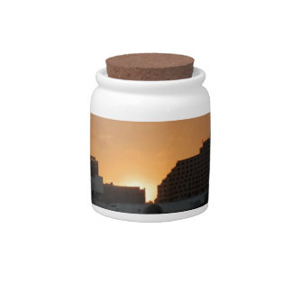Sunset Dark Shore City Candy Jars