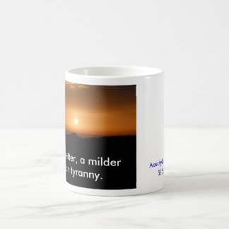 Sunset, Death is better, a milder fate than tyr... Classic White Coffee Mug