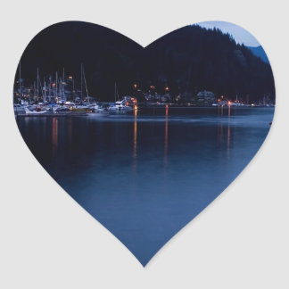 Sunset Deep Cove At Dusk Stickers