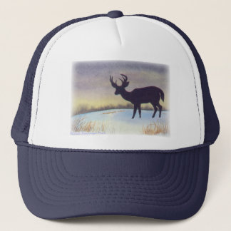 Sunset Deer Painting Trucker Hat