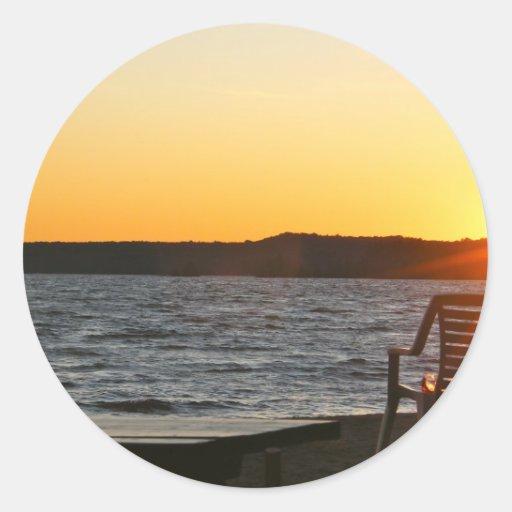 Sunset Delight Classic Round Sticker