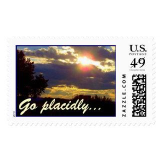 Sunset DESIDERATA Postage Stamps