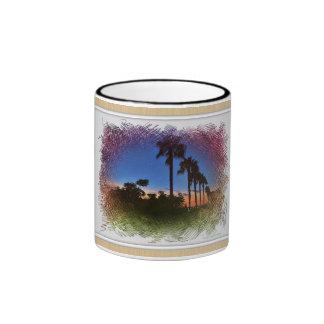 Sunset Design, Carlsbad California Ringer Coffee Mug