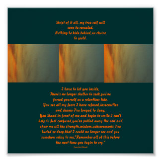 Sunset Design-Poem Poster-by Me Poster