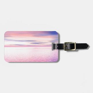 Sunset digital art bag tag