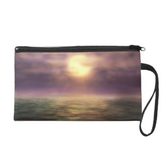 Sunset Digital Painting Wristlet Purse