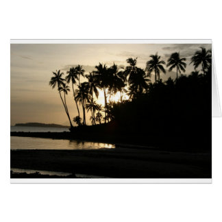 Sunset Dinagat Island Card