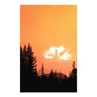 Sunset Divine Cloud At California Stationery Design