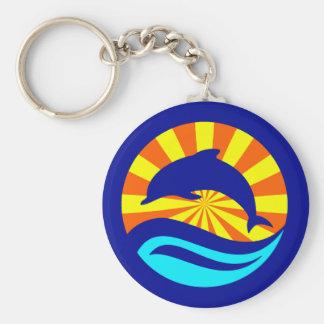 Sunset Dolphin Keychain