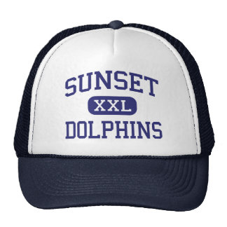 Sunset - Dolphins - Continuation - Encinitas Mesh Hat