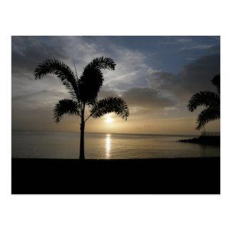 Sunset Dominica Nature Isle Postcard