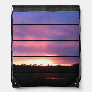 Sunset Drawstring Backpack