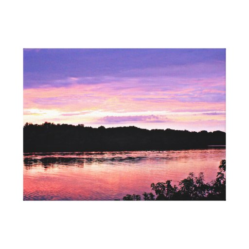 Sunset Dream over the Delaware Gallery Wrapped Canvas