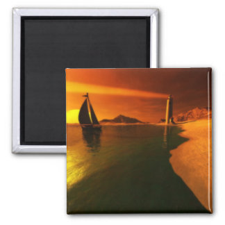 Sunset Dreams 2 Inch Square Magnet
