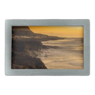 Sunset dreams rectangular belt buckles