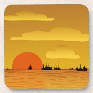 sunset drink coaster