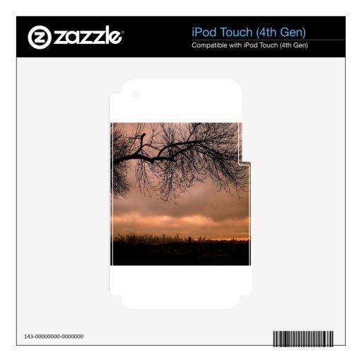 Sunset Dull City Dusk iPod Touch 4G Skin
