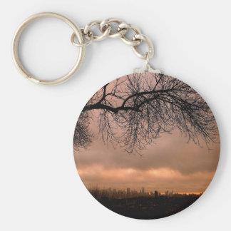 Sunset Dull City Dusk Keychains