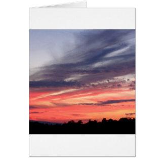 Sunset Dusky Night Card