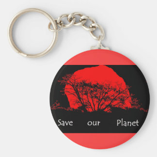sunset eco keychain