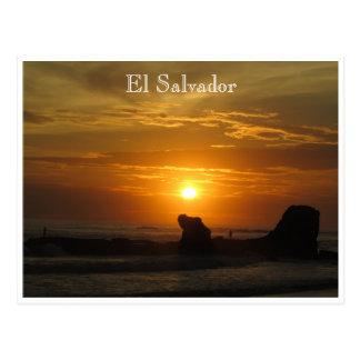 sunset el tunco postcard