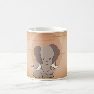 Sunset Elephant Coffee Mug