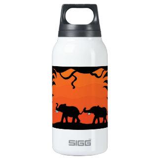 Sunset Elephants Insulated Water Bottle