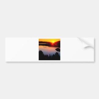 Sunset Emerald Bay Lake Tahoe Car Bumper Sticker